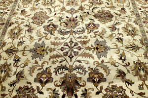 8x10 Exquisite New Hand Knotted Vegetable Dye Wool Tabrizz Turkish Oriental Rug
