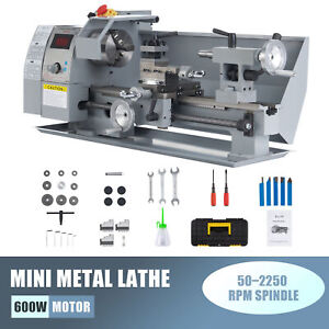 600w 8x14 Inch 2500rpm Metal And Woodworking Mini Lathe With Brushed Dc Motor