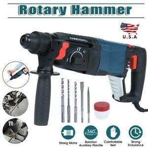 800w Heavy Duty Electric Rotary Hammer Drill Come W Sds Plus Bit Chisel Tool Us