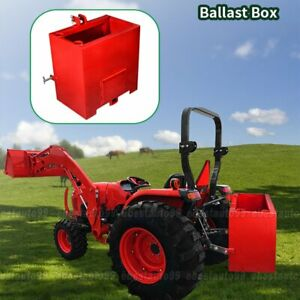 Ballast Box 3 Point Category 1 Tractor 2 Inch Hitch Attachment Heavy duty Lift