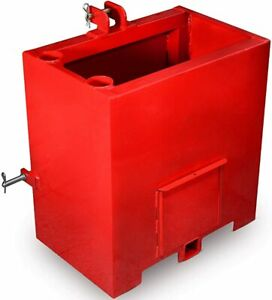 Red Ballast Box For 3 Point Category 1 Tractor Powder Heavy duty Lift Loader