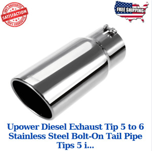 Upower Diesel Exhaust Tip 5 To 6 Stainless Steel Bolt On Tail Pipe Tips 5 I