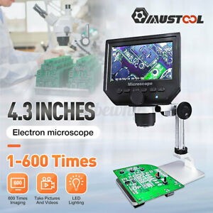 Mustool G600 Digital 1 600x 3 6mp 4 3 Hd Lcd Microscope Continuous Magnifier