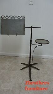 Rare Antique Victorian Metal Music Stand Painters Easel Industrial