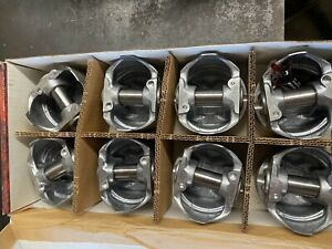 New Keith Black Kb166 Pistons Chevy 283 040