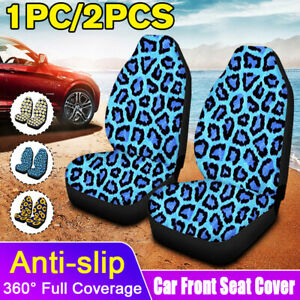 Flower Leopard Pattern Front Row Full Car Seat Cover Protection Car Accessories Fits Seat