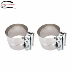 22 T 304 Stainless Steel Lap Joint Exhaust Clamp For Catback Muffler Downpipe