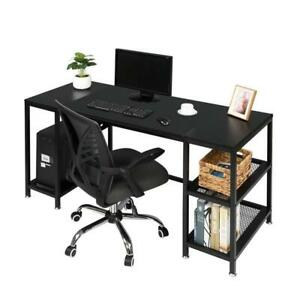 Computer Desk 59 Inch Home Office Writing Study Desk Modern Laptop Pc Table