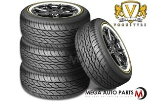 4 Vogue Custom Built Radial Xiii Sct 275 55r20 117h Xl White Gold Sidewall Tires