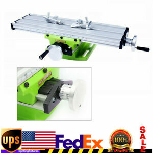 Milling Machine Bench Fixture Work Table X Y Cross Slide Table Drill Vise Usa