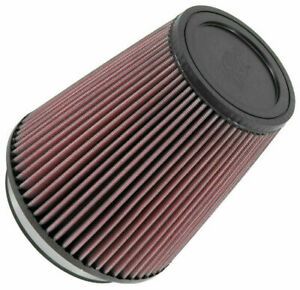K n Ru 2800 Universal Air Filter Cone 5 Inlet 127mm Red Conical Cotton Gauze