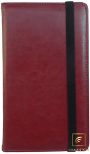 Leather Business Card Book Holder Professional Business Cards Book Wine Red