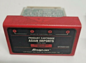 Snap On Thru 2000 Asian Imports Primary Cartridge Software Mt2500 1400