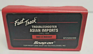 Snap On Thru 1999 Asian Imports Troubleshooter Cartridge Software Mt2500 2499