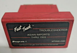 Snap On Thru 1993 Asian Imports Troubleshooter Cartridge Software Mt2500 2493