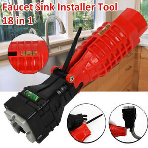 18 In 1 Faucet And Sink Installer Multifunctional Wrench Tools For Water Pipe Us