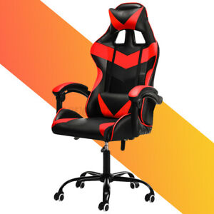 Ergonomic Office Chair Racing Gaming Chair Leather Recliner Computer Desk Chair