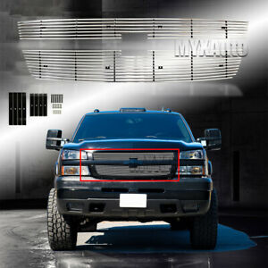 Fit 2005 2006 Chevy Silverado 2500hd 3500 07 Classic Billet Grille Chrome Grill