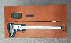 Starrett No 120 12 Stainless Steel Dial Caliper With Wood Box American Made