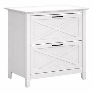 Key West 2 Drawer Lateral File Cabinet Pure White Oak