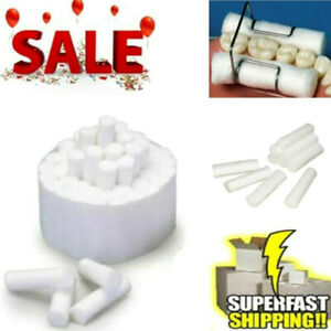 50pcs pack Dental Cotton Rolls Surgical Disposable Super Absorbent White Usa