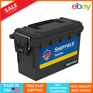 Ammo Can Field Box Ammunition Case 30 Cal Military Plastic Non Metal Waterproof $12.99