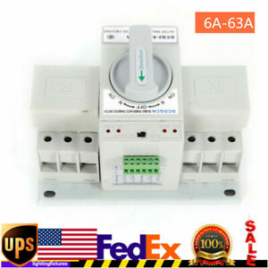 3p 63a Dual Power Automatic Transfer Switch Generator Changeover Switches Usa