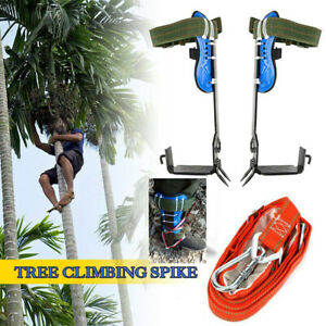 2 Gears Tree pole Climbing Spike Adjustable Safety Belt Straps Rope Lanyard New