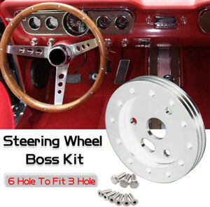 0 5 Billet Extension Hub For 6 Hole Steering Wheel To 3 Hole Grant Adapter Boss