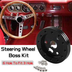 0 5 Black Extension Hub For 6 Hole Steering Wheel To 3 Hole Grant Adapter Boss