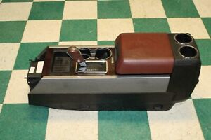 11 14 Expedition Center Console Brown Leather King Ranch Armrest Shifter Lid