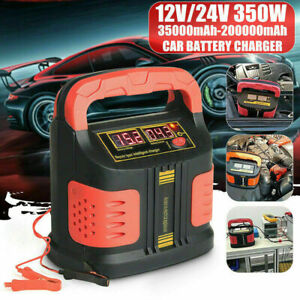 Heavy Duty Smart Car Battery Charger Pulse Repair 12v 24v 3 Stage Charging 360w