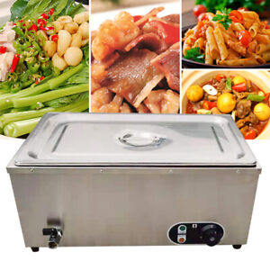 Stainless Commercial Countertop Food Fast Warmer Steamer Buffet 30 110 1 2kw