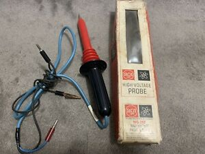 Rca Victor High Voltage Probe Wg 297 Vintage Television Tester With Box See Pics