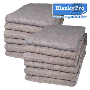 12 Heavy Duty Textile Moving Blanket 54 X 72 Furniture Packing Pad 20lb dz