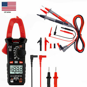 Kaiweets Digital Clamp Meter Ac Current Multimeter With Alligator Clip Test Lead