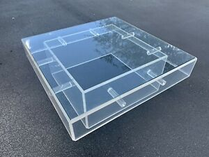 1970s Lucite And Glass Coffee Table Mcm
