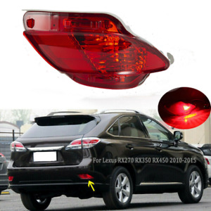 Fit Lexus Rx270 Rx350 Rx450h 10 15 Right Red Brake Lamp Stop Rear Bumper Light