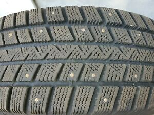 4qty Goodyear Winter Command 235 60r17 Studded Tires Used Local Pickup Only