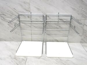 Lot Of 2 Hilex Steel Plastic Grocery Store Shopping Bag Holder 3ac00525100