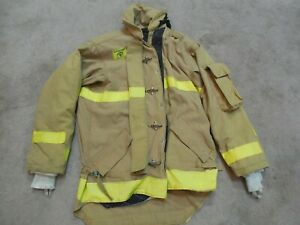 Morning Pride Fire Fighter Turnout Jacket 46c X 36s 10 03 Bunker Gear Mayfield