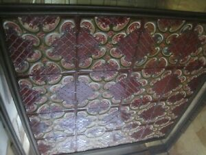 16 Antique 24x24 Inch Tin Ceiling Tile Victorian Must Remove From Ceiling