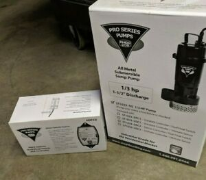 Pro Series Pumps Sump Pump St1033 New In Box W dfc2 Deluxe Float Switch Control