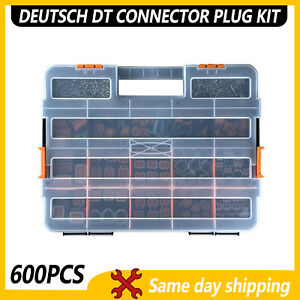 Usa 600 Pcs Deutsch Dt Genuine Connector Kit 14 16awg Stamped Contacts