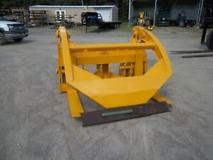 Wicker Front End Loader Forks 4 Ft With Bale Clamp Log Lumber Material Pipe