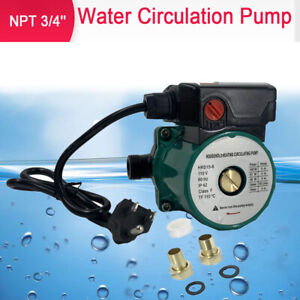 3 speed Hot Water Recirculating Pump For Water Heater System Circulation 3 4