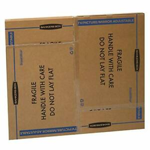 Bankers Box Smoothmove Tv picture mirror Moving Box Adjustable 40 X 60 X 4 In