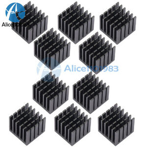 10pcs 22 22 20mm Aluminum Heat Sink W Thermally Conductive Dual side Adhesive