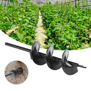 Planting Auger Spiral Hole Drill Bit For Garden Yard Earth Bulb Planter 9 Inch