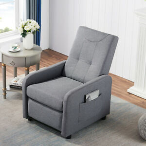 Multifunctional Sofa Chair And Adjustable Lounge With Side Storage Pouch Office